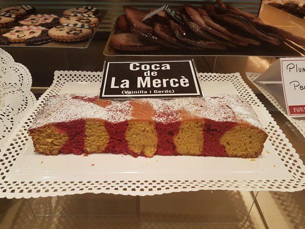 Traditional flatbread - coca eaten during La Merce