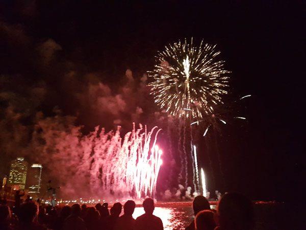 Fireworks on Barceloneta beach